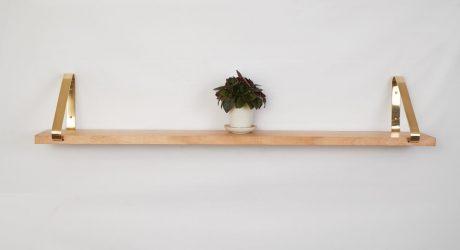 Brass Display Shelf by Joska & Sons