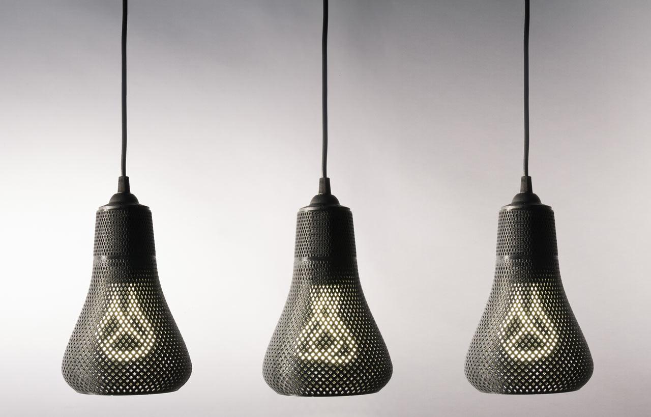 3D Printed Lamp Shades for Plumen Bulbs - Design Milk