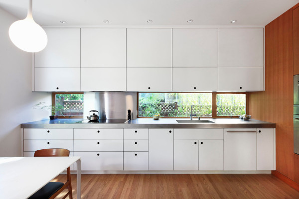 Kitchen Countertops That Form To Go Up The Wall