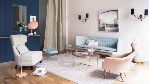 10 Modern Rooms with Pastel Accents  10 Modern Rooms with Pastel Accents Roundup Pastel Room 1 Home and Garden Paul Raeside 600x338