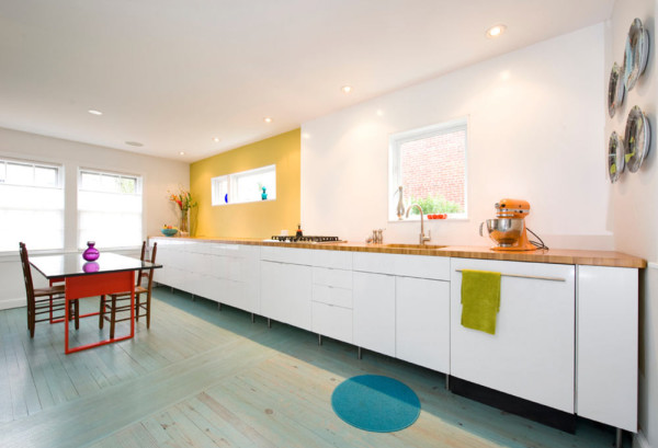 Photos by Pepper Watkins  10 Modern Rooms with Pastel Accents Roundup Pastel Room 3 63rd street kitchen 600x409
