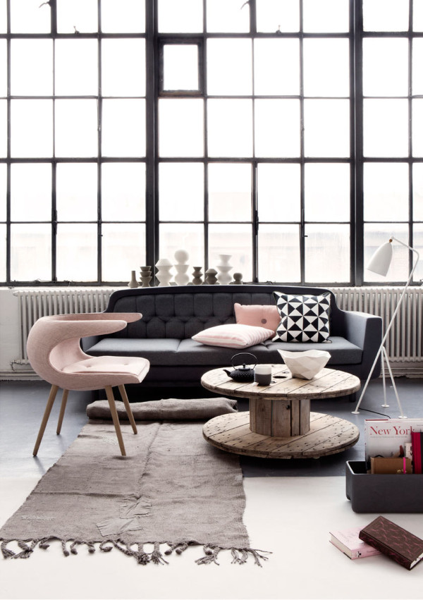 Photo by Line Thit Klein  10 Modern Rooms with Pastel Accents Roundup Pastel Room 6 Line Thit Klein 600x851