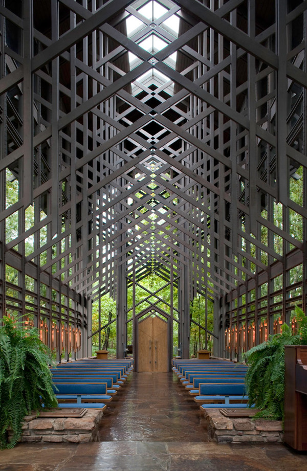 a magical modern chapel in the ozark mountains design milk