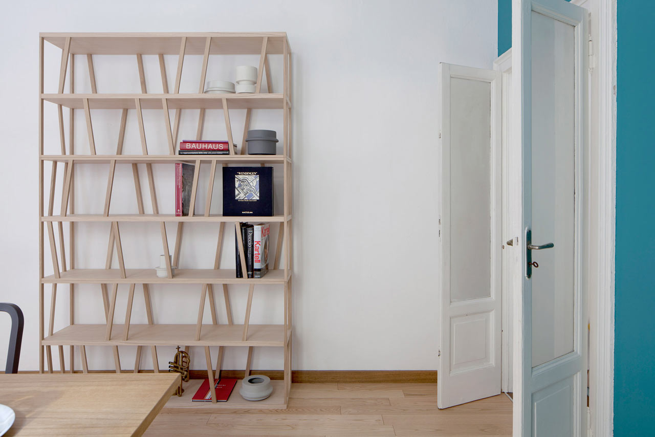 Tilta: A Double-Sided Freestanding Bookcase