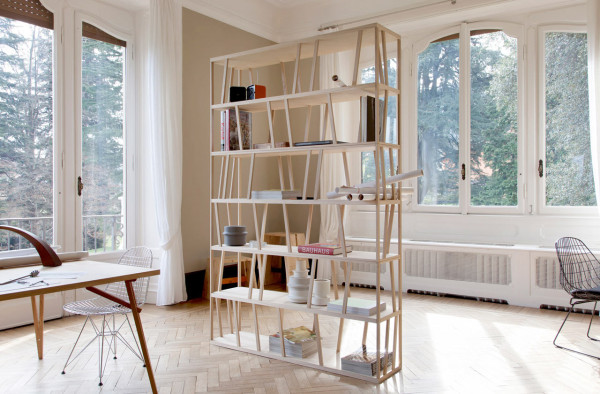 Relatively Tilta: A Double-Sided Freestanding Bookcase - Design Milk AP82