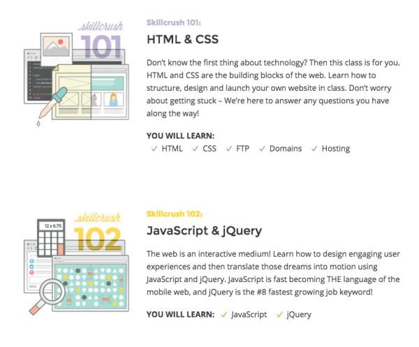 skillcrush online courses