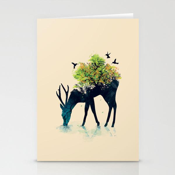 watering-deer-cards