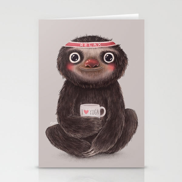 yoga-sloth-cards