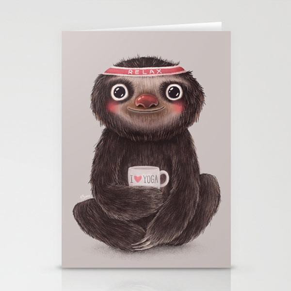 yoga-sloth-cards