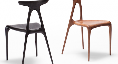 A Solid Wood Chair Created With Modern Technology
