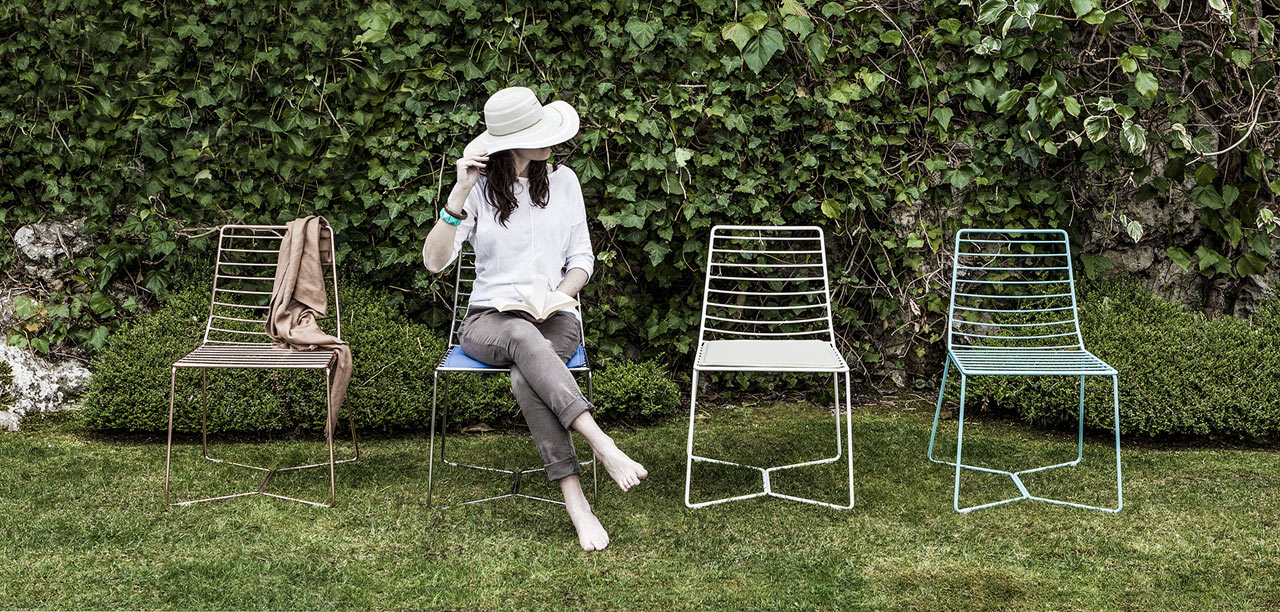 An Outdoor Chair with a Clean Silhouette