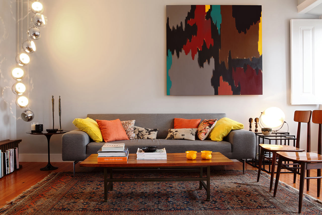 Architecture interior design main · a warm timeless apartment that blends modern and vintage