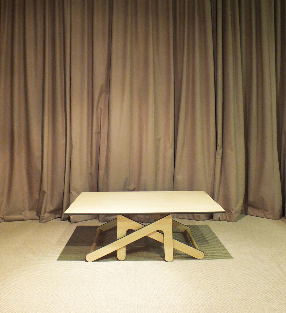 A Coffee Table that Transforms into a Dining Table