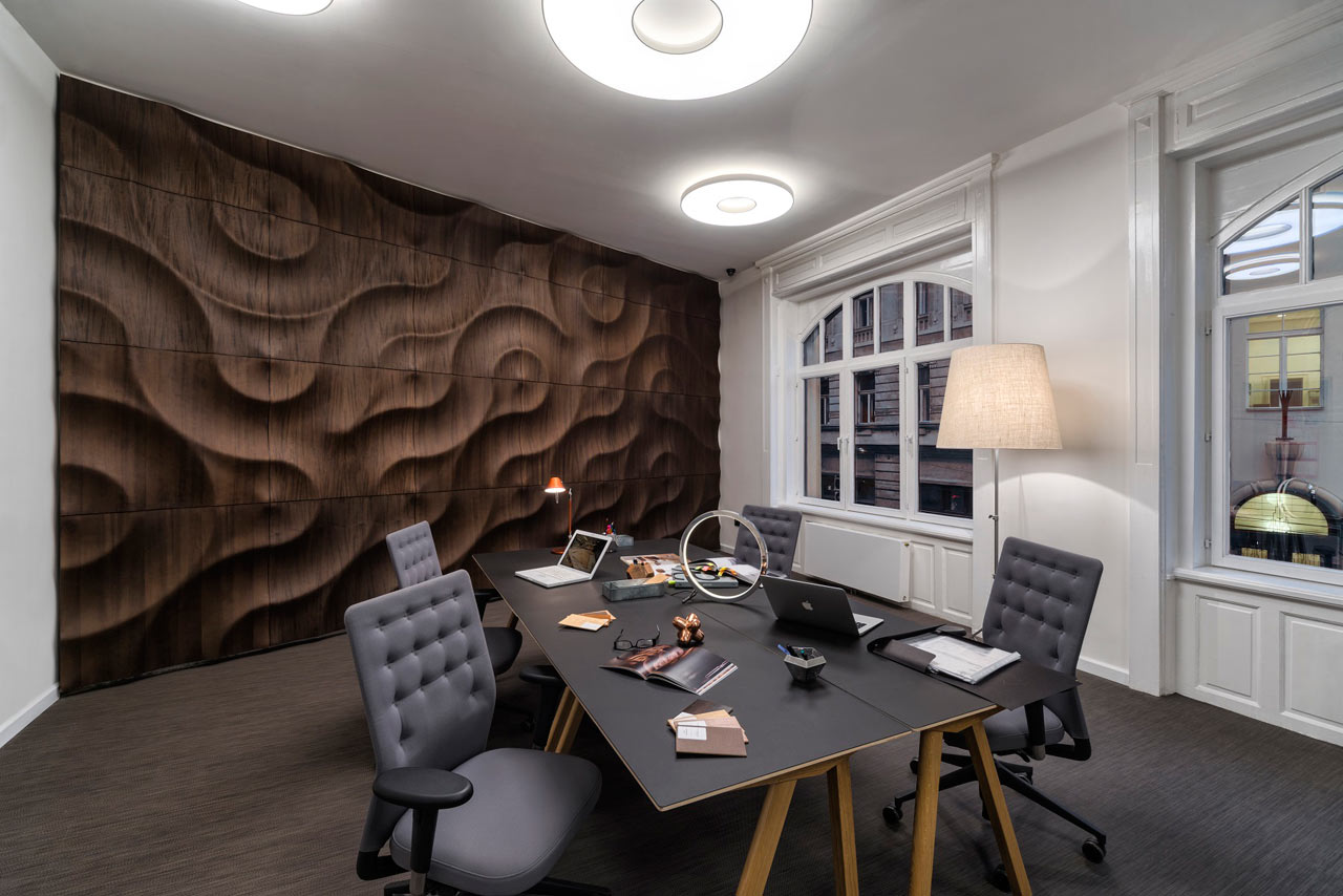 handcrafted, 3d wooden wall coverings - design milk
