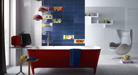 Tile Collection Inspired by the Pop Art of Roy Lichtenstein