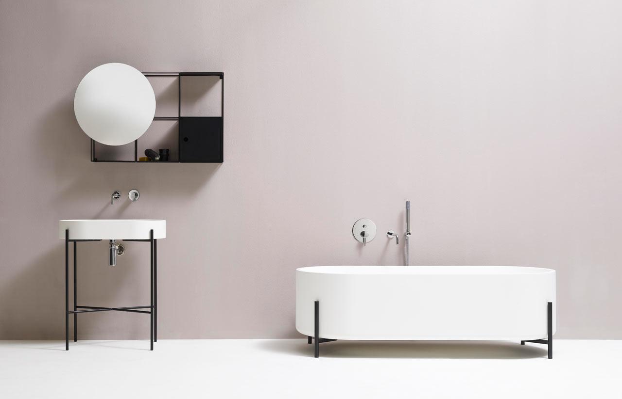 Bathroom Fixtures Black minimalist black and white bathroom fixtures - design milk