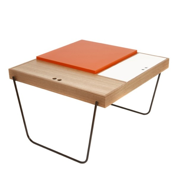 The Tokyo Table Goes A Different Route, And Is Inspired By The Minimal  Lines Of Traditional Japanese Tatami Mats. The Colorful Table Has Three  Storage Spots ...