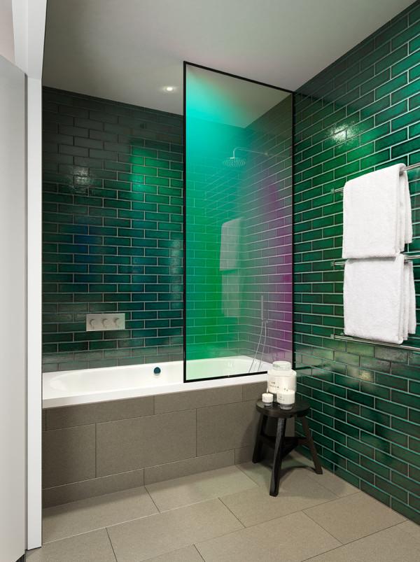 Tom dixon research lab apartment design milk Bathroom design for studio apartment