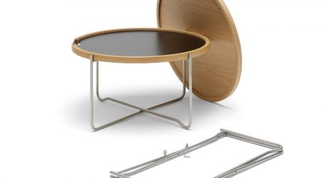 Carl Hansen & Søn Reintroduces Hans J. Wegner's Reversible Tray Table