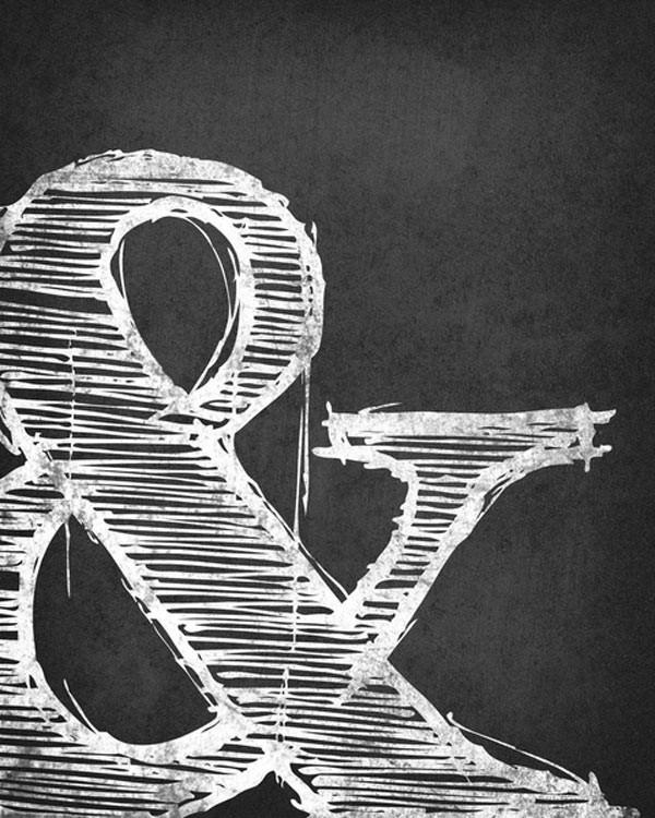black-white-ampersand