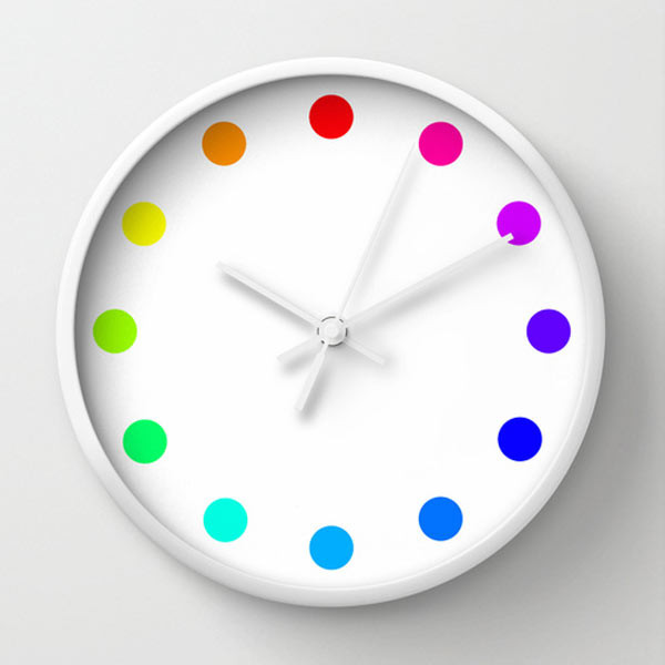 Perfect colorful dots wall clock