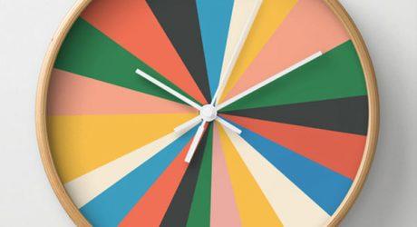 8 Creative Wall Clocks from Society6