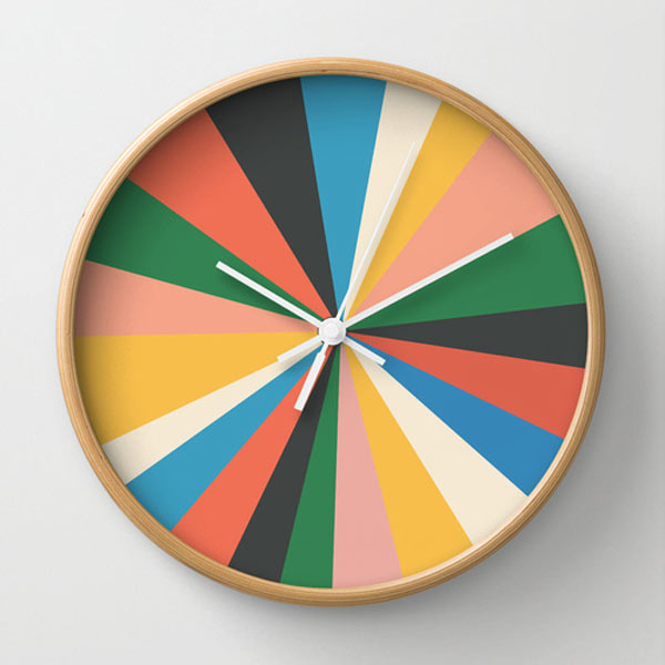 8 Creative Wall Clock Designs From Society6 Design Milk