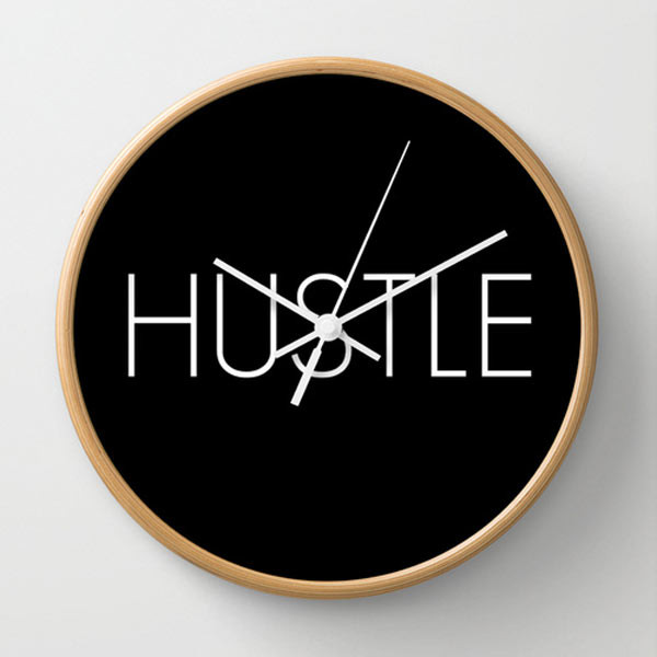 hustle-wall-clock