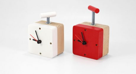 Industrial Vice Clocks from Poorex
