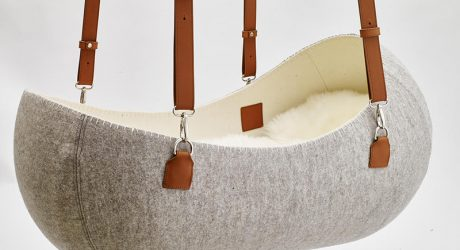 A Hanging Felt Cradle Inspired by the Womb