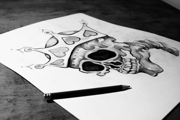 sara-blake-zso-artwork-skull-table