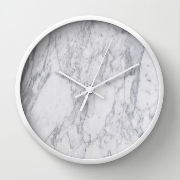 white-marble-wall-clock