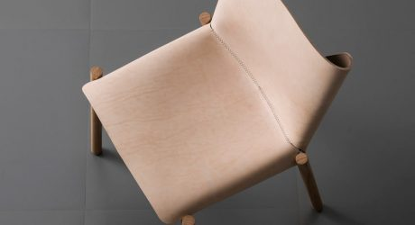 Kristalia Leather and Wood Chair