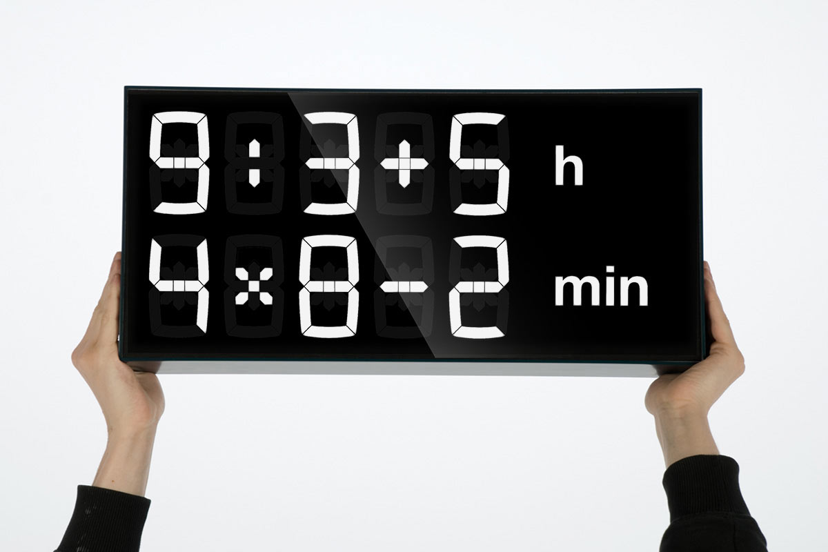 A Digital Clock to Help Improve Your Math Skills - Design Milk