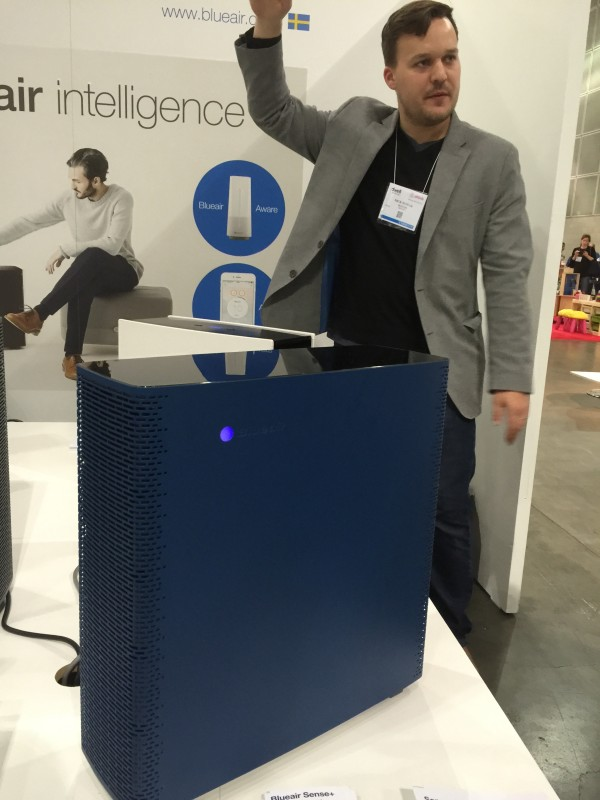 Blueair's Nick Nowak  at this year's Dwell On Design.