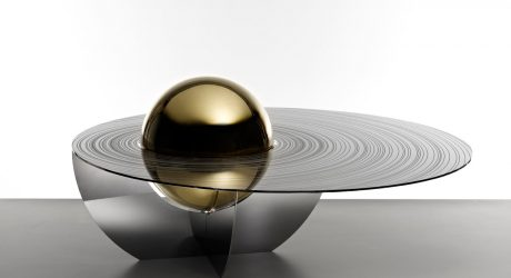 A Sculptural Table Inspired by Space Exploration