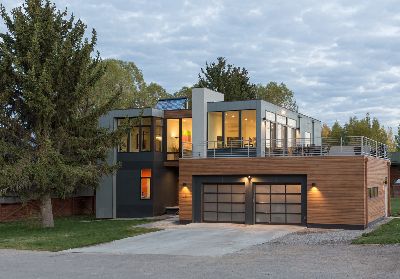 A modern prefab home in jackson hole design milk for Modern contemporary homes