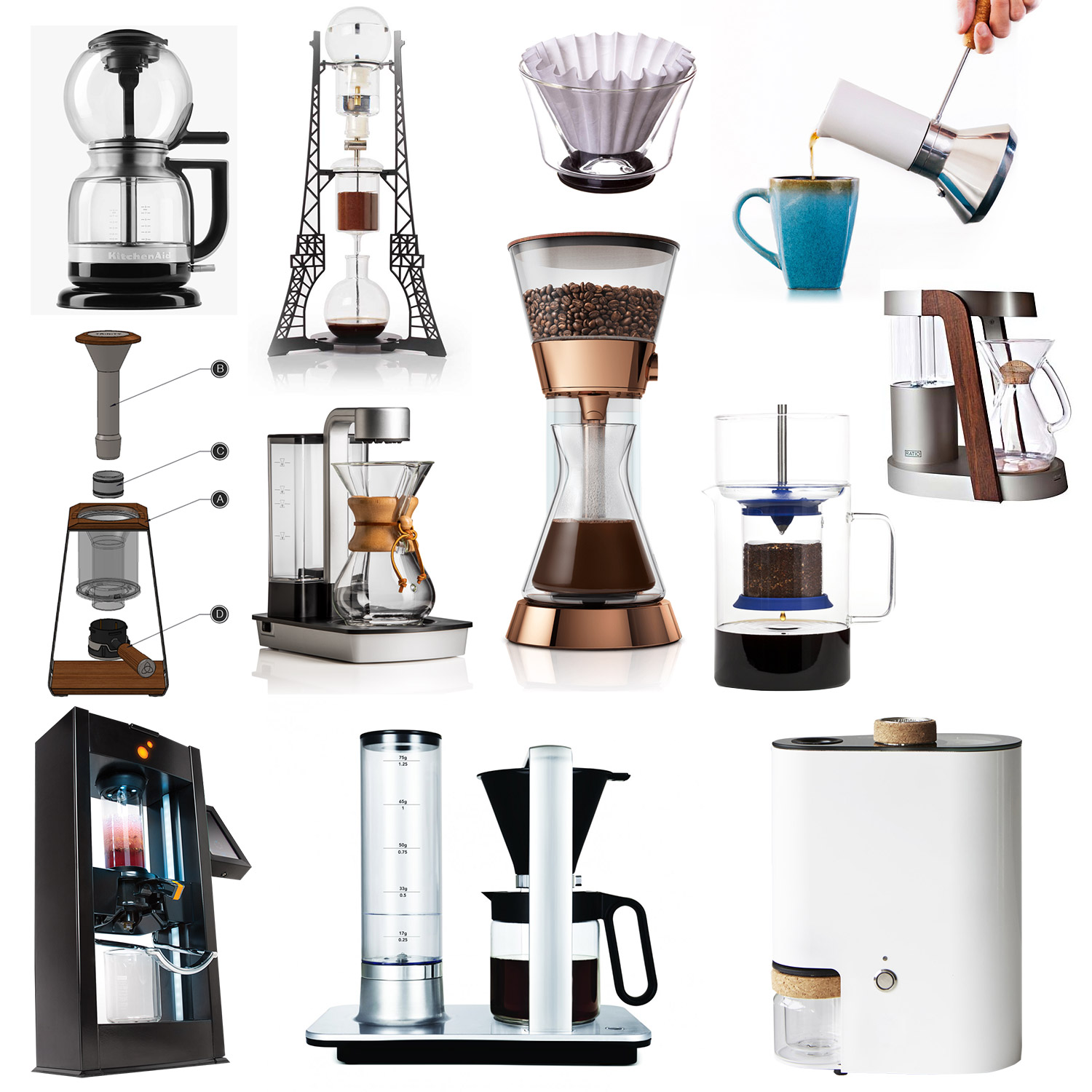 of the best in coffee brewing technology  design milk -  of the best in coffee brewing technology