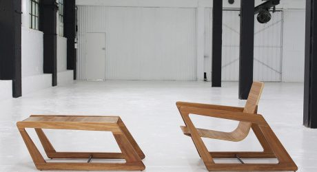 Modern, Sustainable & Slanted: Chair and Table by Cummins Design