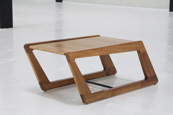 Dynamic slanted chair and table design milk for Complex table design