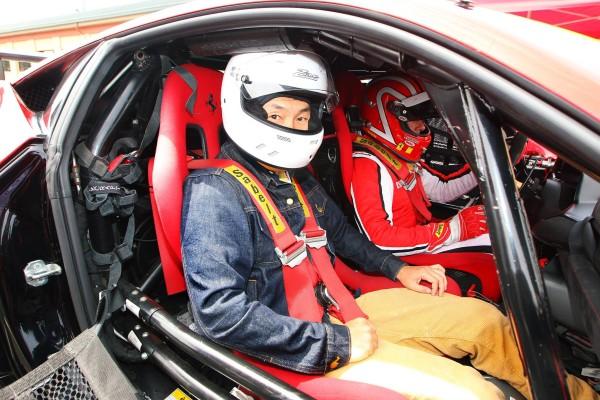 Sitting inside a 458 Challenge EVOExcitement, fear, then elation.