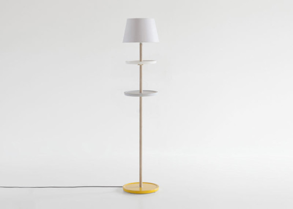 A Floor Lamp That Turns Into A Side Table Design Milk