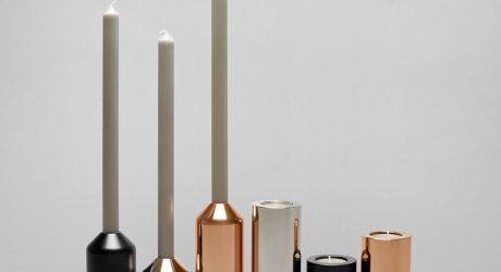 Minimalist, Interchangeable Candleholders by Joe Doucet