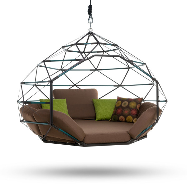 Kodama Zomes Hanging Geodesic Seats Amp Beds Design Milk