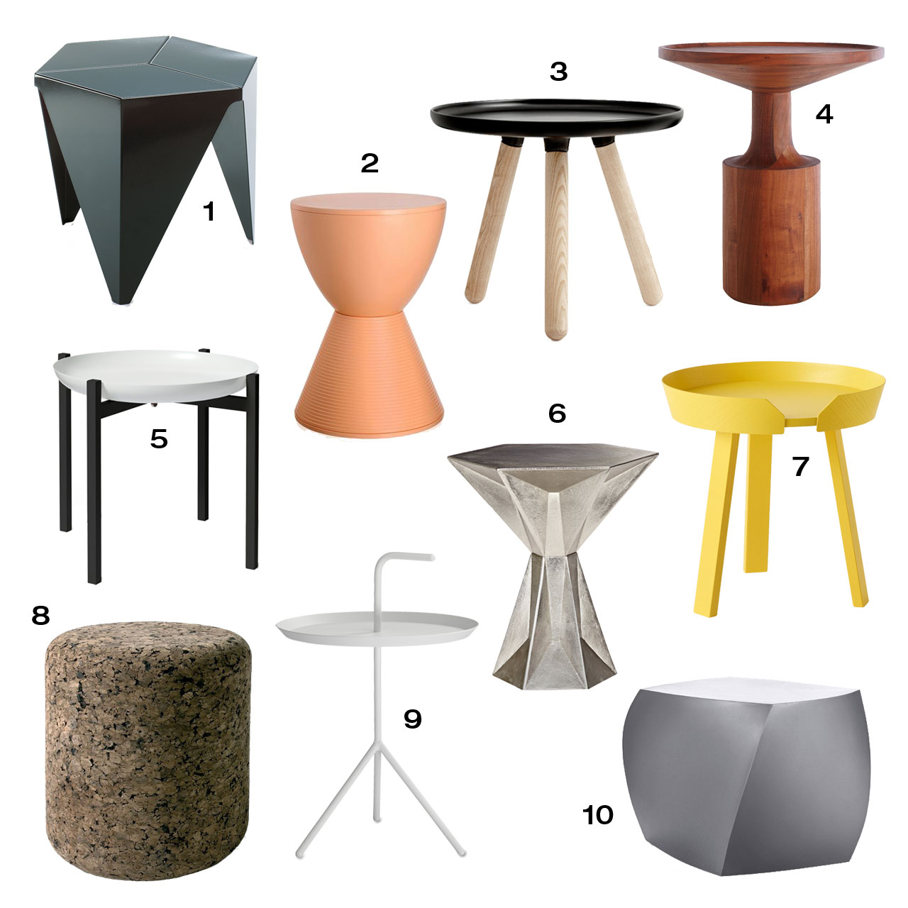 Roundup 10 modern side tables design milk Modern side table