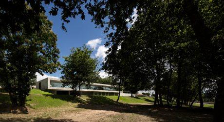 A Rectangular, Concrete Home that Doesn't Disturb the Landscape