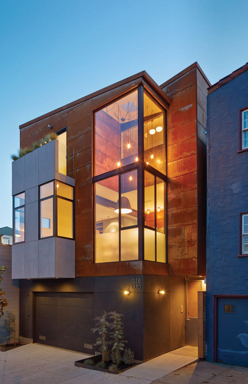 Two urban homes on one plot of land in san francisco for Home and land design