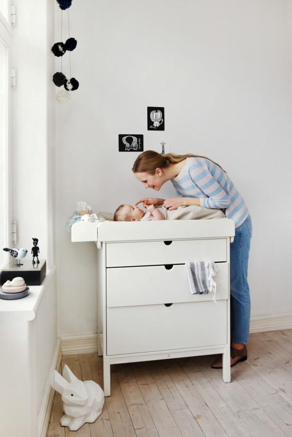 Stokke Home Dresser and Changer 150226-B17R0558 White