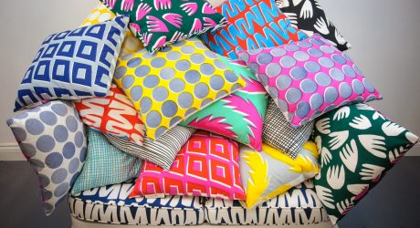 An Irresistible Collection of Hand-Printed Pillows