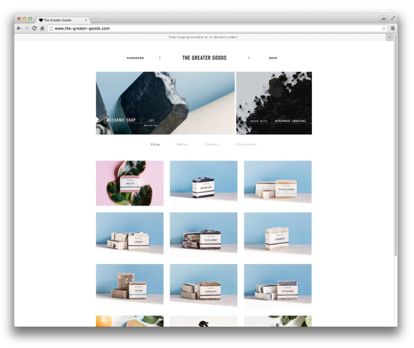 10 well designed squarespace commerce sites design milk for Best squarespace template for video